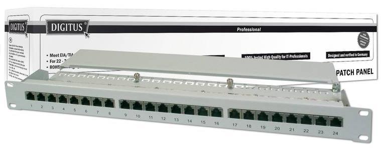 Купить Digitus Patch Panel 19` 24-Port Cat6 по выгодной цене. Категор